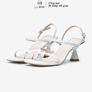 Giày Cao Gót Nữ giayBOM Mũi Vuông Quai Dây Gót Cao 5 cm GB00002 thumbnail