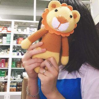 Sư tử oska thú nhồi bông bằng len