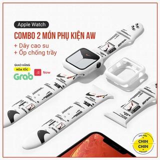 Combo 2 Món Dây Cao Su Và Ốp Bảo Vệ Apple Watch Cho Series 6 5 4 3 2 1 SE Size 38 40 42 44mm - Chinchin Case thumbnail