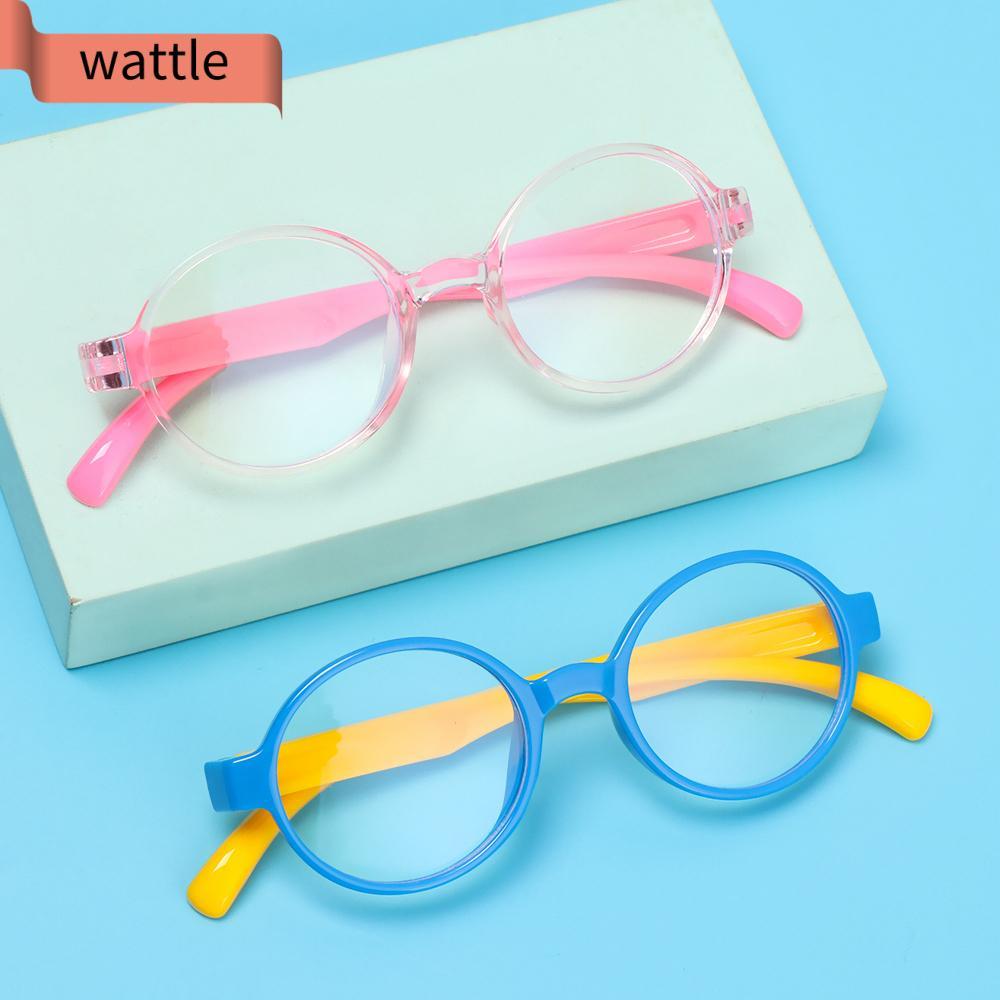 WATTLE Ultralight Children Goggles Radiation Protection Silicone Eyewear Anti-blue Light Glasses Vision Care Soft Frame Anti-blue Rays Boys Girls Fashion...
