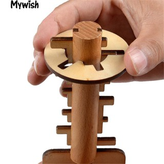 Wooden Unlock Key Kong Ming Luban Lock Adults Kids Puzzle Educational New Toy
