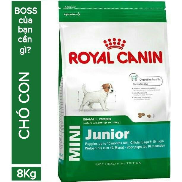 (1kg gói chia) Thức ăn hạt cho chó con Royal Canin Mini Junior từ bao 8kg