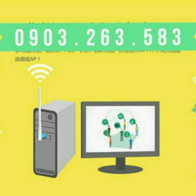 [Nhập ELCLMAY hoàn 30K xu đơn từ 200K]👑 Usb thu sóng WIFI tốc độ 150Mbps cho máy để bàn PC Giá chỉ 180.000₫