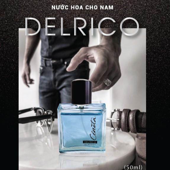 Nước hoa nam Cénota Delrico 50ml, nước hoa nam dạng xịt lưu hương lâu - PM05-2 Lici
