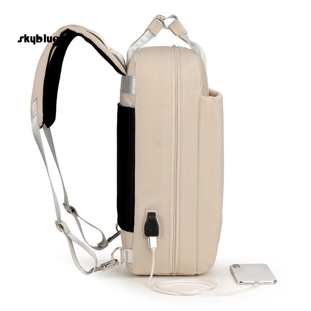 Balo đựng laptop chống thấm nước có cổng sạc USB cho nam và nữ