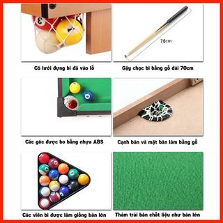 [LOẠI TỐT] Đồ chơi bàn Bi A bằng gỗ chắc chắn loại 2 gậy món quà sinh nhật ý nghĩa – Có ảnh thật
