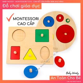 Giáo cụ xếp hình cơ bản [GỖ CAO CẤP] Đồ chơi giáo dục Montessori