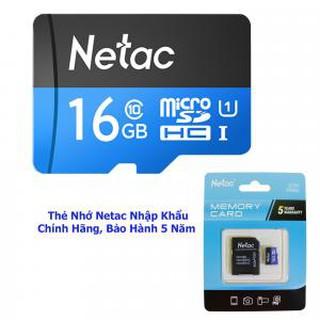 [Mã ELFLASH5 giảm 20K đơn 50K] Thẻ Nhớ Netac U1 Dung Lượng 16 GB - Chính Hãng - Bảo Hành 5 Năm