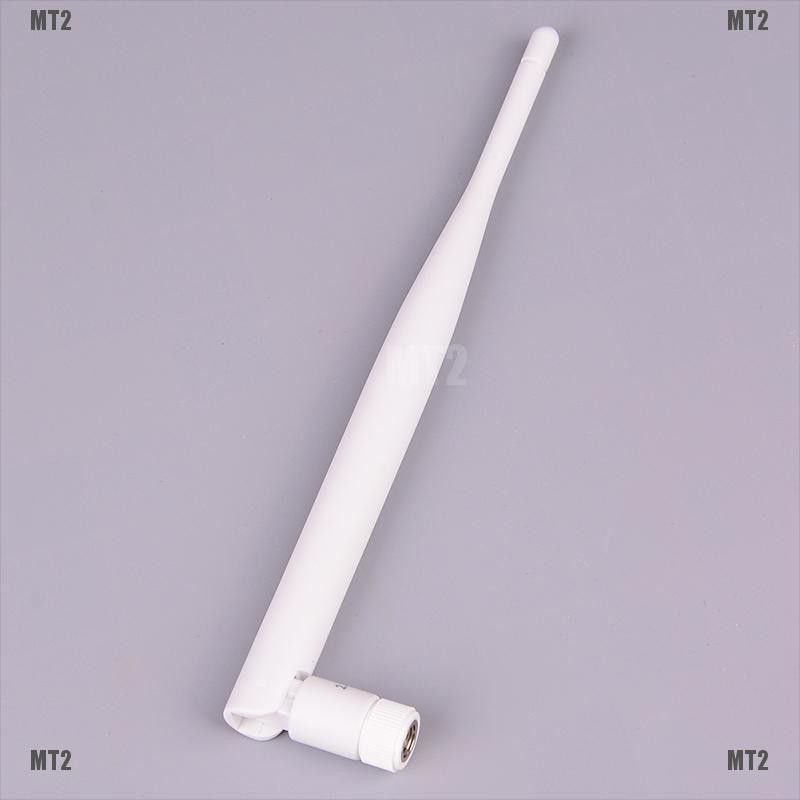[MT2&TH]1PC 2.4GHz white WiFi antenna 5dBi aerial RP SMA male connector 2.4g antenna