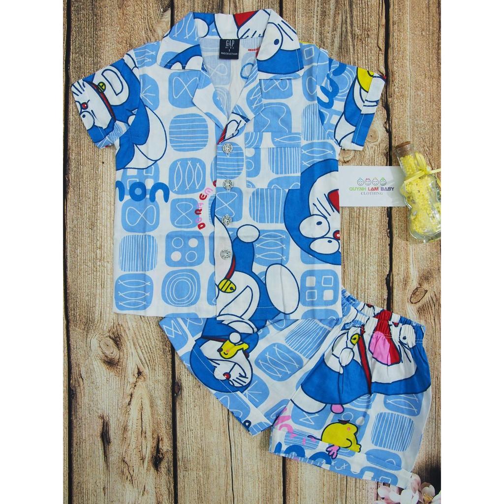 [ĐỒNG GIÁ 50K_HÀNG BÁN SHOP] Đồ bộ mặc nhà pijama cho bé trai hình in doremon, màu siêu tươi, chất kate cotton xịn
