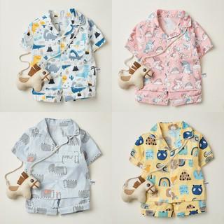 Tổng hợp bộ pyjama cộc tay họa tiết đáng yêu cho bé trai thumbnail