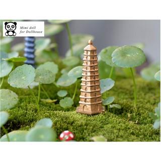 Chùa tháp trang trí tiểu cảnh cao 6 cm Minidoll