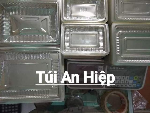 Hộp nhựa H21, C55, 700gr, 1kg (100 hộp) | PET clear containers