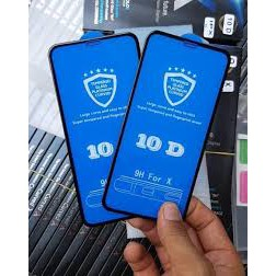 Miếng dán cường lực - kính cường lực 10d không hộp cho iphone 6/7/8/x full màn hình