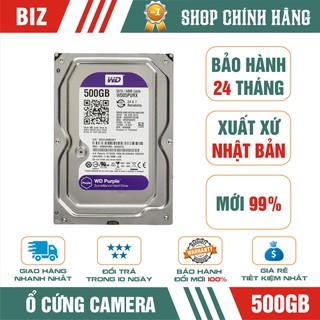 Ổ cứng Camera HDD 500GB WD Purple - Bảo hành chính hãng 24 tháng 1 đổi 1