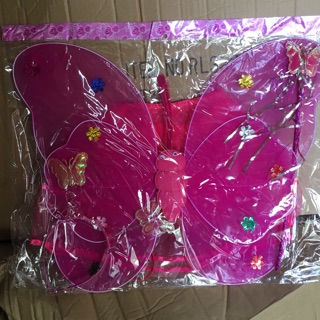 Bộ cánh bướm trung thu kèm chân váy có đèn có gậy và có bờm