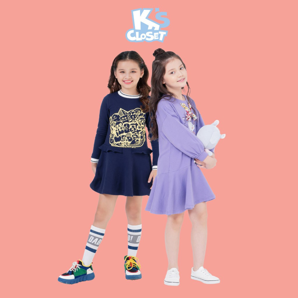 Váy Dài Tay Bé Gái (3-9 Tuổi) K's Closet K024NIF / K132NIF TM