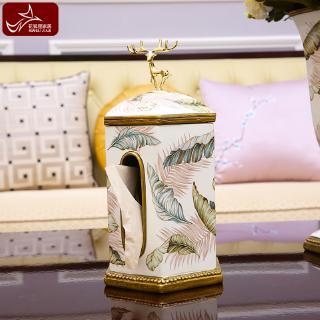 Hộp đựng khăn giấy hình đèn để bàn trà phòng khách kiểu Âu Mỹ sáng tạo