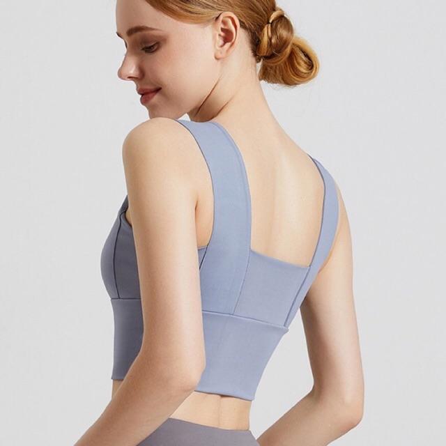 Áo bra tập gym yoga aerobic, Bra thể thao chất đẹp, kiểu dáng 2 dây AGM21
