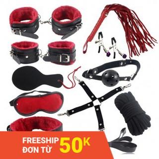 Bộ 10 món BDSM đỏ đen táo bạo – Shop Yêu 18