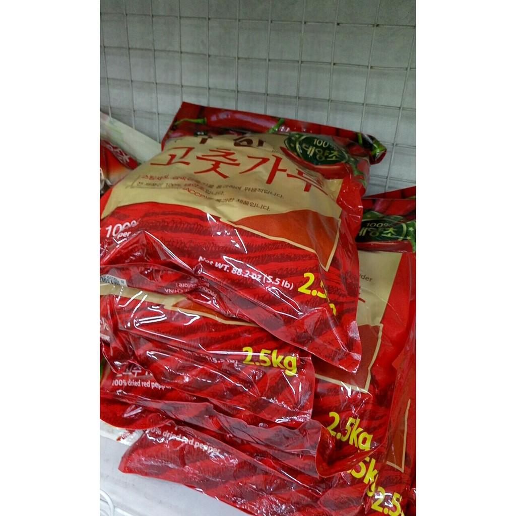 Bột ớt Hàn Quốc Chackhan nongwoo 2,5kg