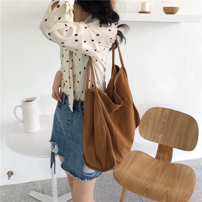 Túi xách nữ vải bạt thời trang Hàn