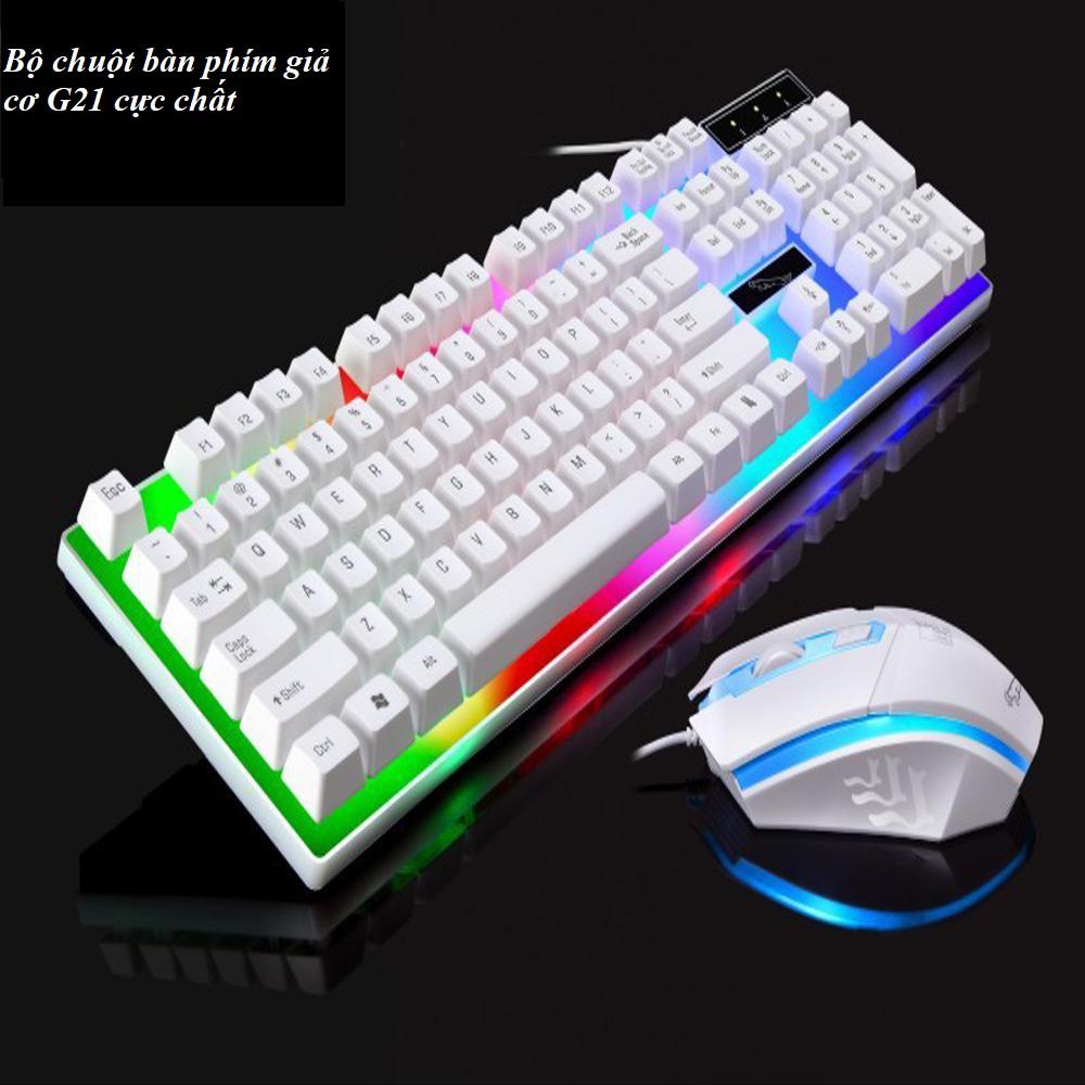 FREESHIP - Bộ chuột bàn phím có LED - Bộ chuột bàn phím giả cơ chuyên game G21 NEW 2019