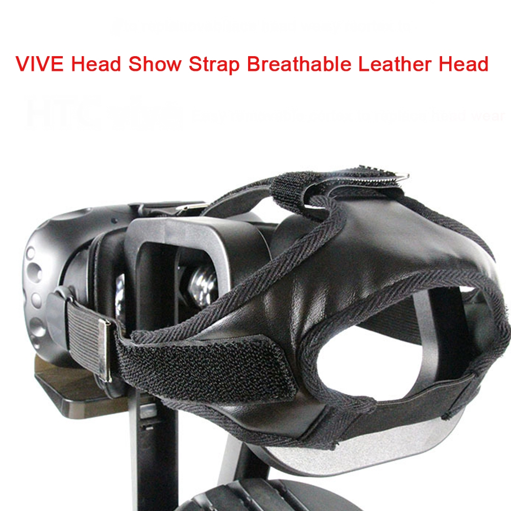 Elastic Thread Gluing Head Strap Replacement Accessories PU Leather VR Glasses Adjustable For HTC VIVE
