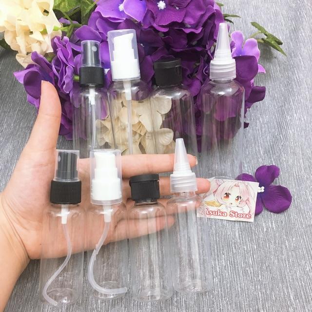 Chai Xịt Phun Sương/ Xịt Giọt/ Nắp Bật/ Nắp Nhọn _ (30ml/50ml/100ml)_ Chai chiết mỹ phẩm, toner, nước hoa