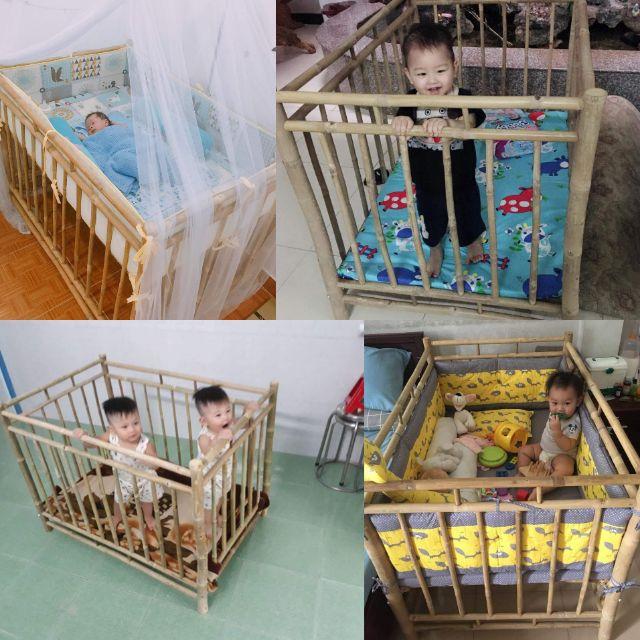 Giường cũi 2 trong 1 cho bé phía nam