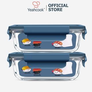 Set Hộp thủy tinh Yeahcook Glass Box 660ml