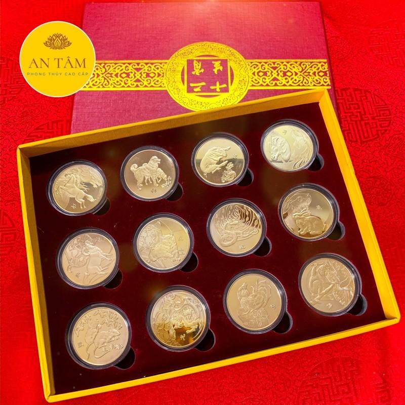 Quà Tết Đồng Xu 12 Con Giáp Mạ Vàng - Quà Tặng Mới Cho Năm 2021