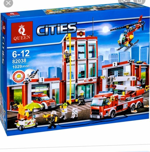 Bộ đồ chơi City Urban lepin 02052 bela 10831 lion 180034 chi tiết Trạm cứu hoả thành phố