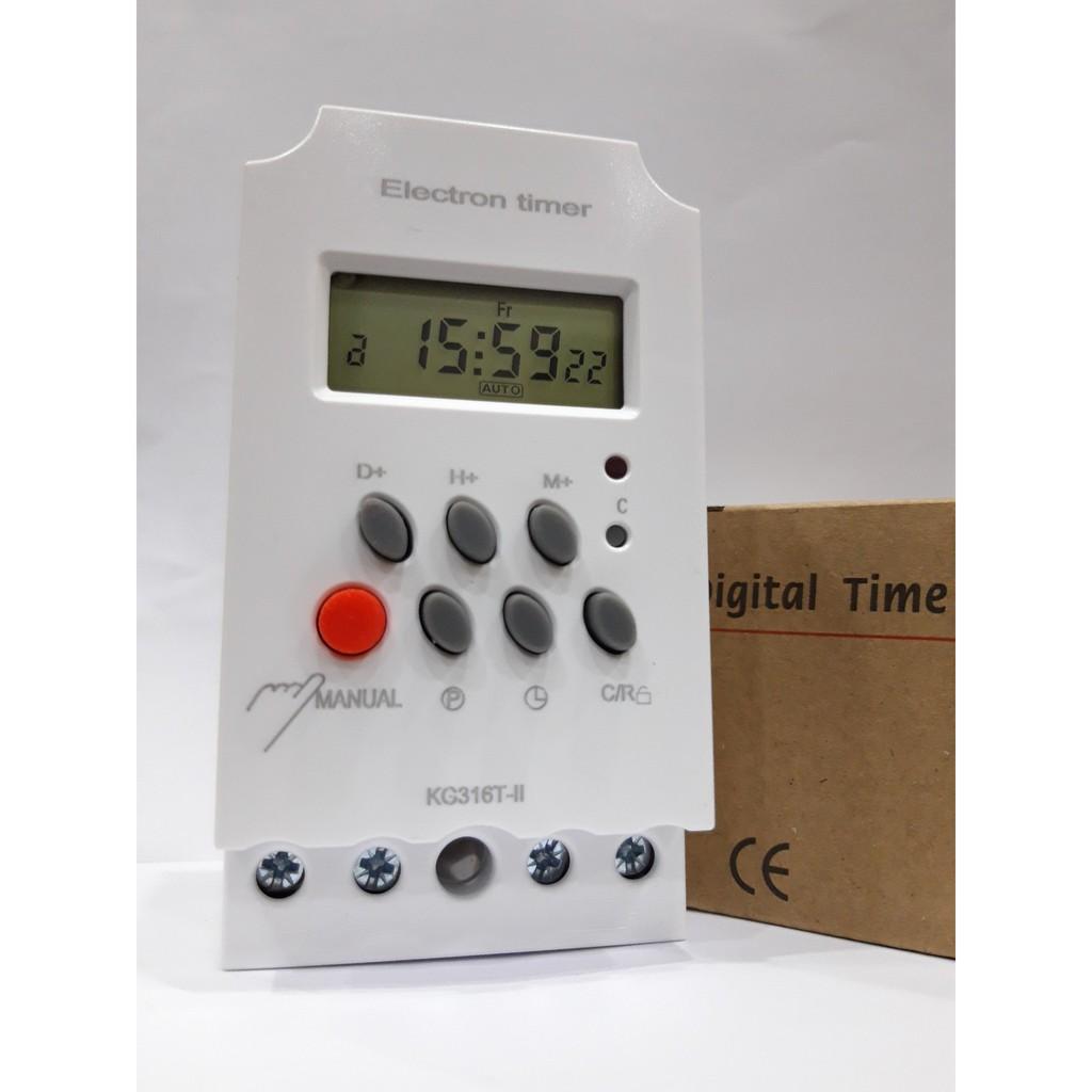 Công tắc hẹn giờ 17 chương trình Electron timer KG 316T-II timer hẹn giờ ổ cắm hẹn giờ
