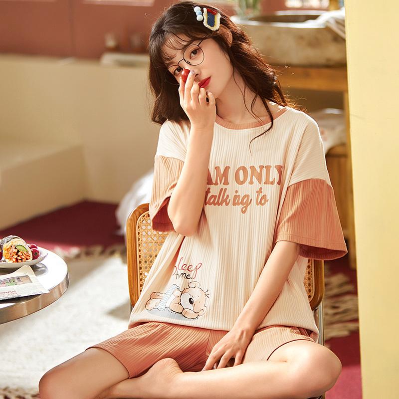 Mặc gì đẹp: Gọn tiện với Set Đồ Mặc Ở Nhà Vải Cotton Họa Tiết Hoạt Hình Dễ Thương Thời Trang Cho Nữ