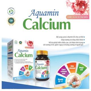 CANXI CHIẾT XUẤT TỪ TẢO BIỂN ĐỎ AQUAMIN CALCIUM - BỔ SUNG CANXI NANO, VITAMIN D3 - MK7 - LỌ 60 VIÊN thumbnail