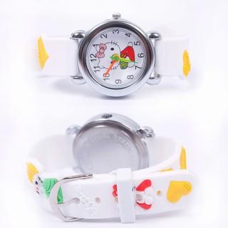 Đồng hồ đeo dây da hình con mèo cho bé trai và gái