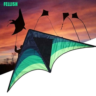 (FEL) Large Delta Kite For Kids And Adults Single Line Easy To Fly Kite Handle Include