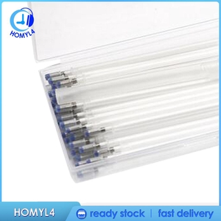 4 Colors Heat Erasable Fabric Pens Refill 40 Pieces Heat Pens Replaceable Pen Refills with Clear Storage Box