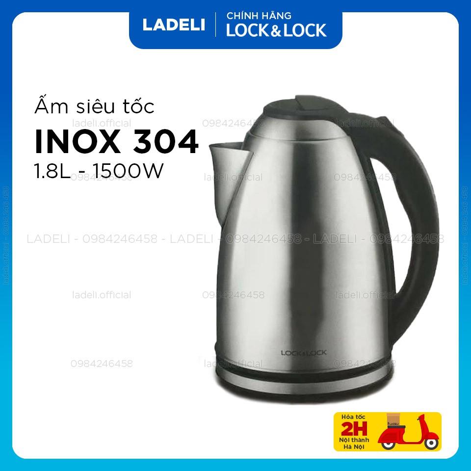 Ấm siêu tốc inox LOCK&LOCK EJK148SLV dung tích 1.8L công suất 1500W
