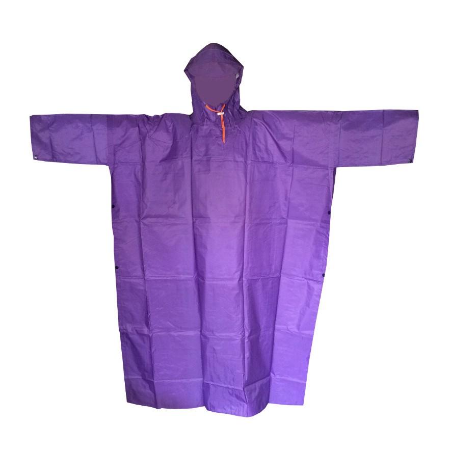 Áo mưa cánh dơi vải dù 2 da (Tím)