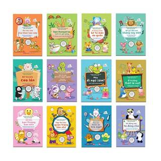 Sách - Combo 12 tập Truyện tranh song ngữ Việt Anh cho bé