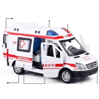 Xe cứu thương mô hình RMZ city tỉ lệ 1:36 có nhạc và đèn