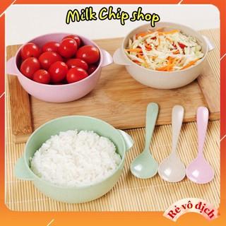 Bát ăn dặm cho bé lúa mạch có tay cầm, không có nắp (tặng thìa lúa mạch) BA001 thumbnail