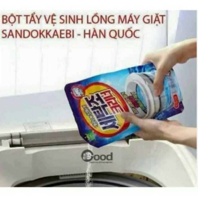 Bột tẩy vệ sinh lồng máy giặt sandokkaebi- Hàn Quốc - 3419811 , 623219299 , 322_623219299 , 30000 , Bot-tay-ve-sinh-long-may-giat-sandokkaebi-Han-Quoc-322_623219299 , shopee.vn , Bột tẩy vệ sinh lồng máy giặt sandokkaebi- Hàn Quốc