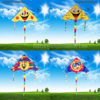 [Spring] Huge 80cm Smile Face Single Line Novelty Expression Kites Children's Gift Toys [VN]