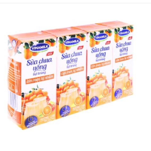 Sữa chua uống tiệt trùng lên men tự nhiên hương cam Vinamilk lốc 4 hộp*170ml - 2510747 , 970506230 , 322_970506230 , 39000 , Sua-chua-uong-tiet-trung-len-men-tu-nhien-huong-cam-Vinamilk-loc-4-hop170ml-322_970506230 , shopee.vn , Sữa chua uống tiệt trùng lên men tự nhiên hương cam Vinamilk lốc 4 hộp*170ml