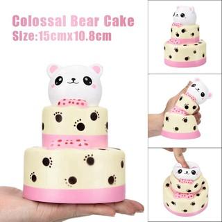 Đồ chơi bóp tay giảm stress hình bánh kem con gấu 15CM squishy