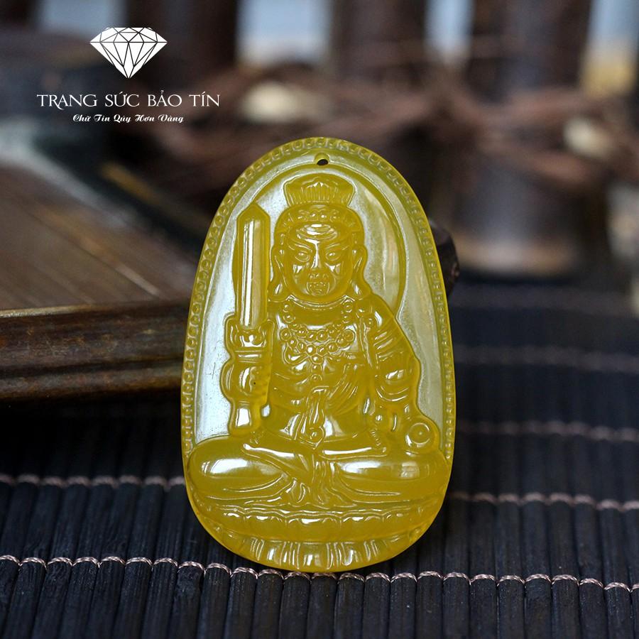 Mặt Phật Bản Bất Động Minh Vương Mã Não Vàng BẢO TÍN