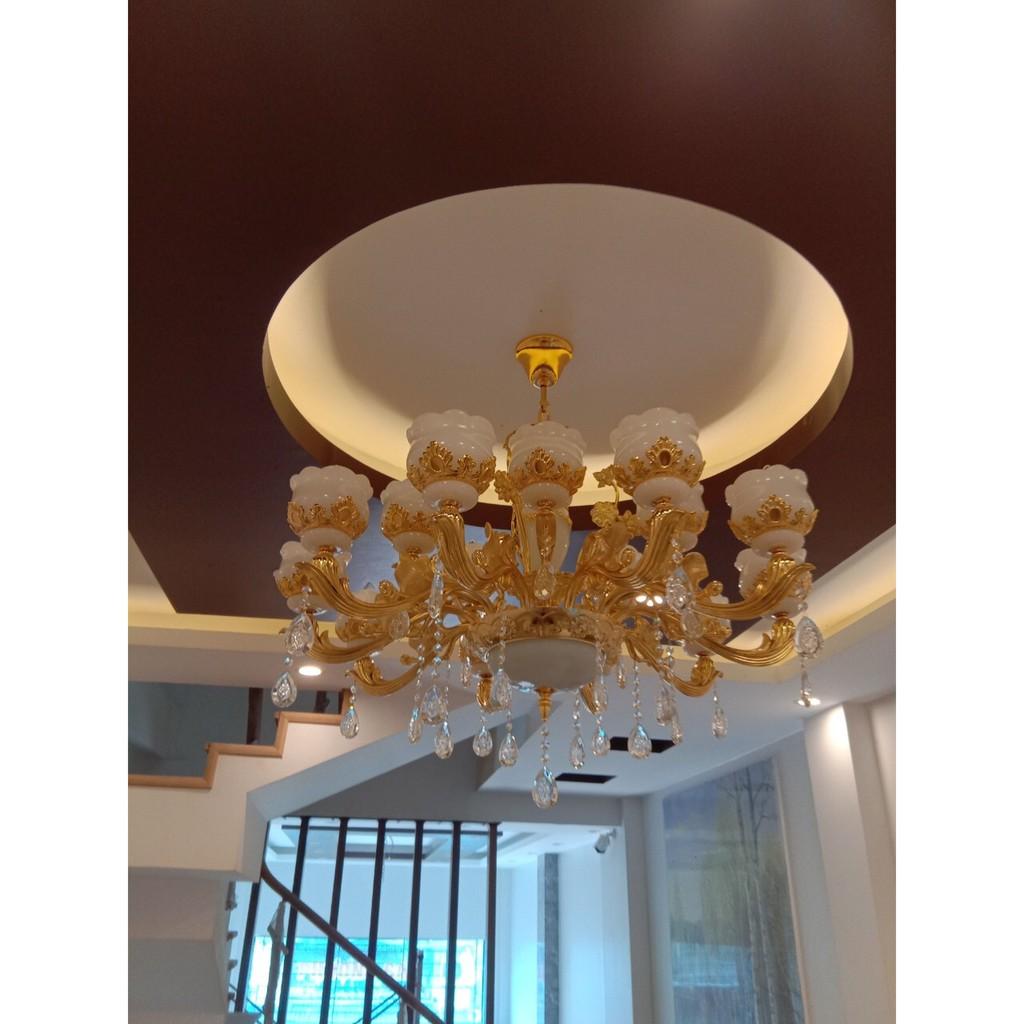Đèn chùm trang trí tân cổ điển cao cấp loại 15 tay/ Bao gồn 15 bóng led cao cấp